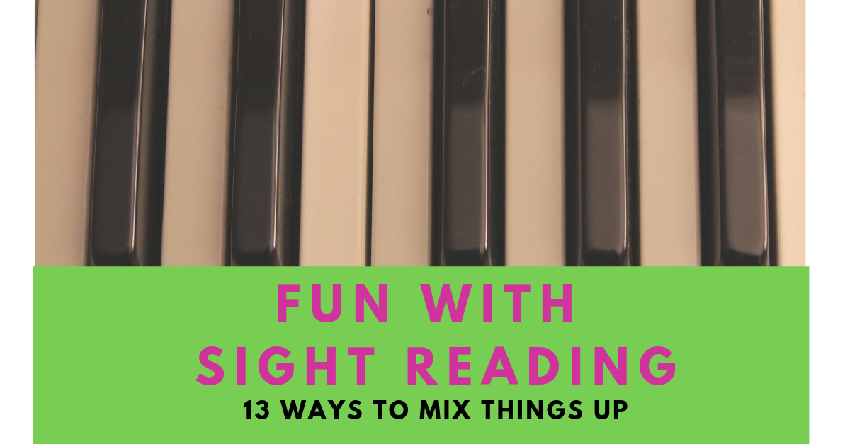 Make Sight Reading Fun. Didsbury Piano teacher tips
