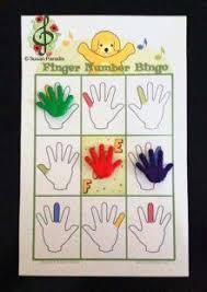finger number bingo Susan Paradis