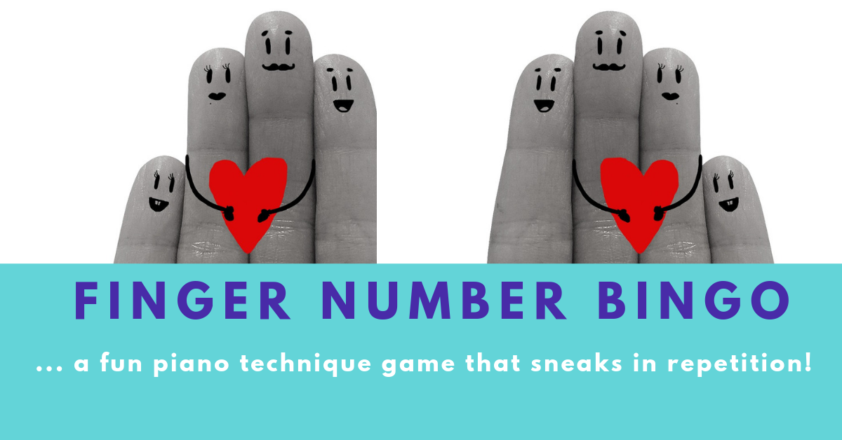 finger number bingo practice game from DIdsbury Piano Manchester