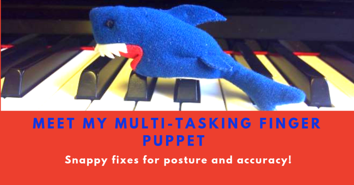 Finger puppets for piano posture and note accuracy in Didsbury Manchester