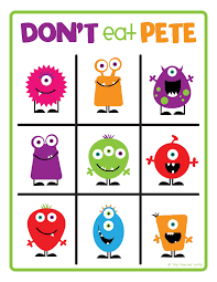 dont eat pete board for Didsbury Piano rhythm game