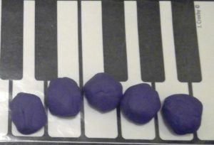 shaping phrases with playdough at Didsbury Piano