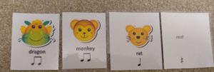 Chinese rhythm cards for blind mirror game