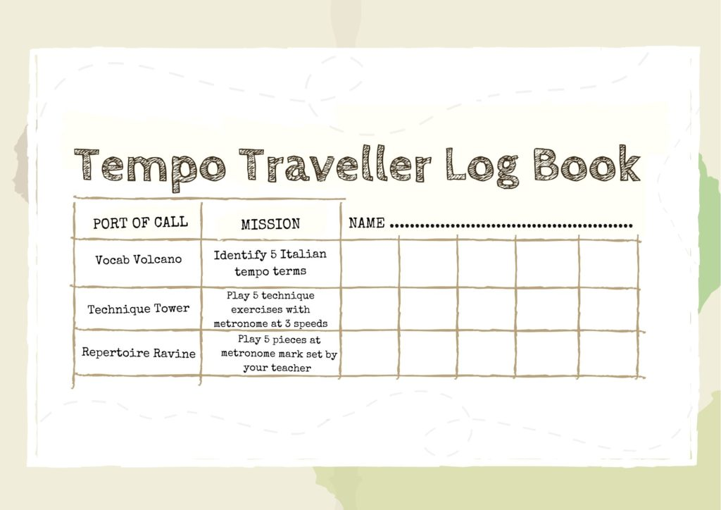Tempo Traveller challenge log book Didsbury Piano