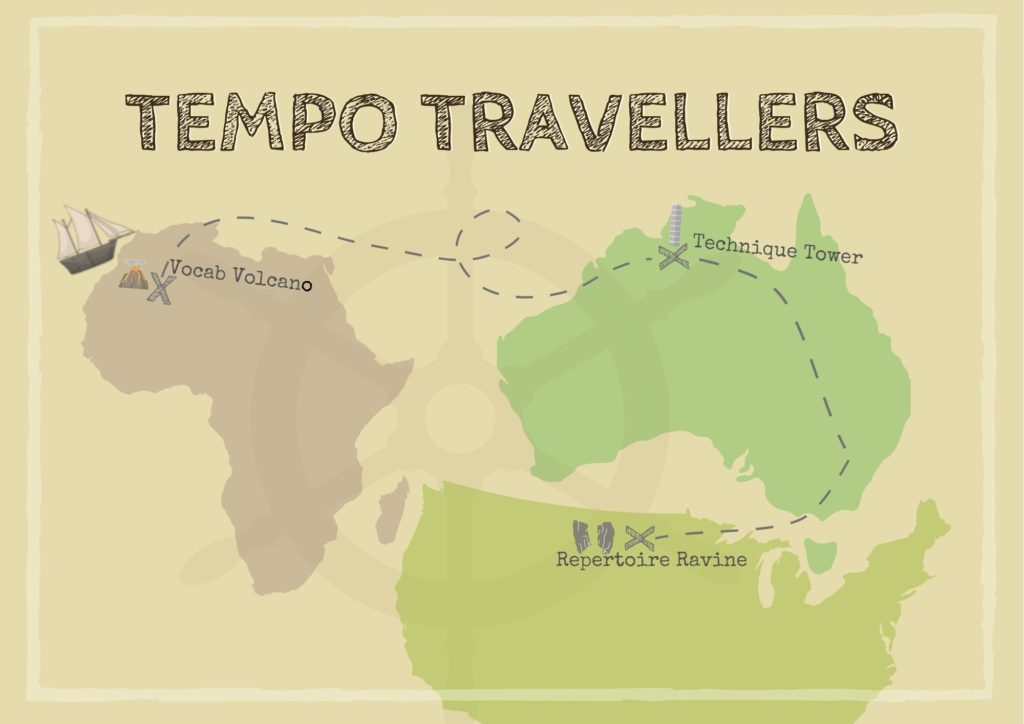 Tempo Traveller challenge board Didsbury Piano
